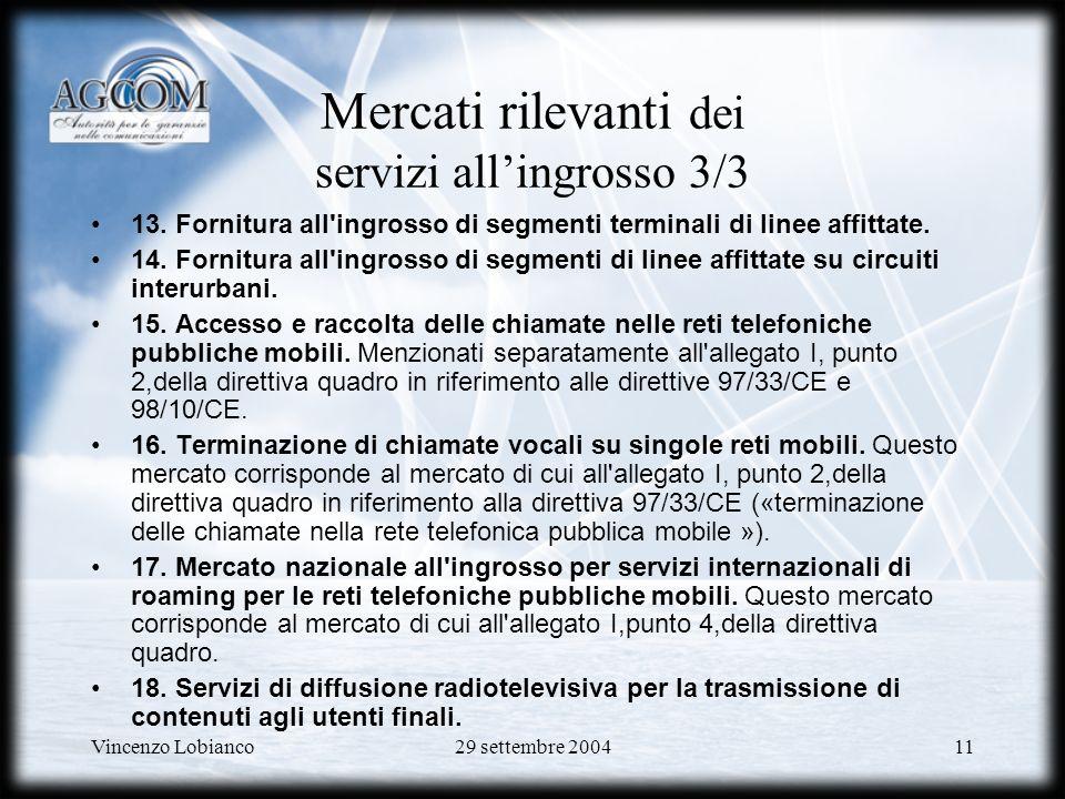 Mercati rilevanti dei servizi all'ingrosso 3/3