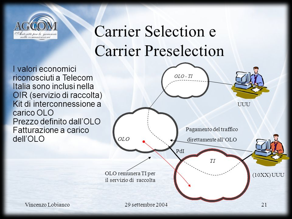 Carrier Selection e Carrier Preselection