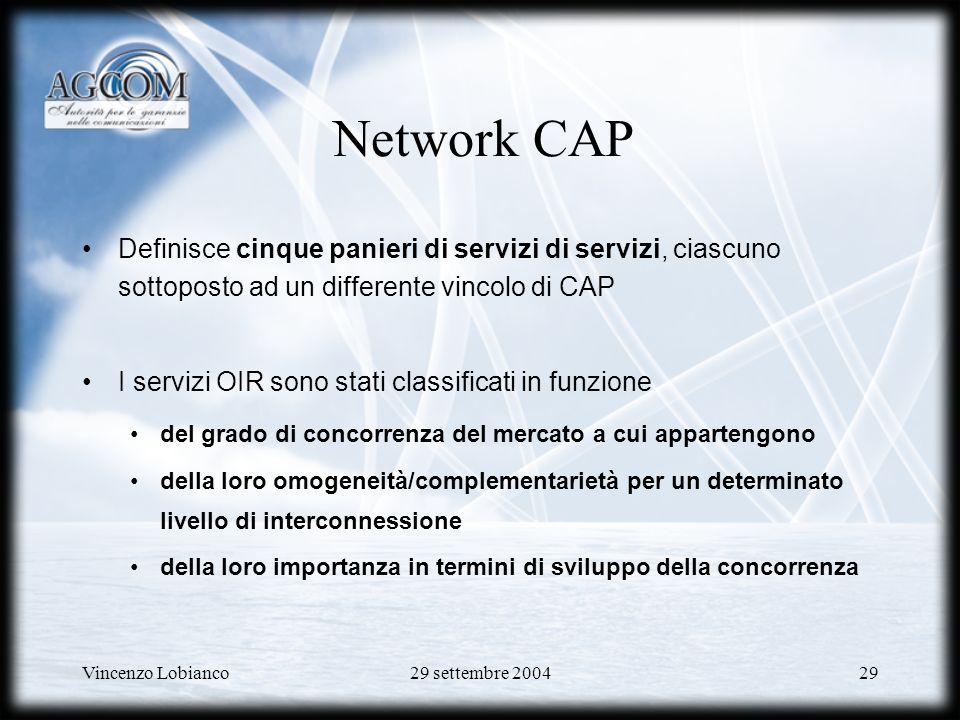 Network CAP Definisce cinque panieri di servizi di servizi, ciascuno sottoposto ad un differente vincolo di CAP.