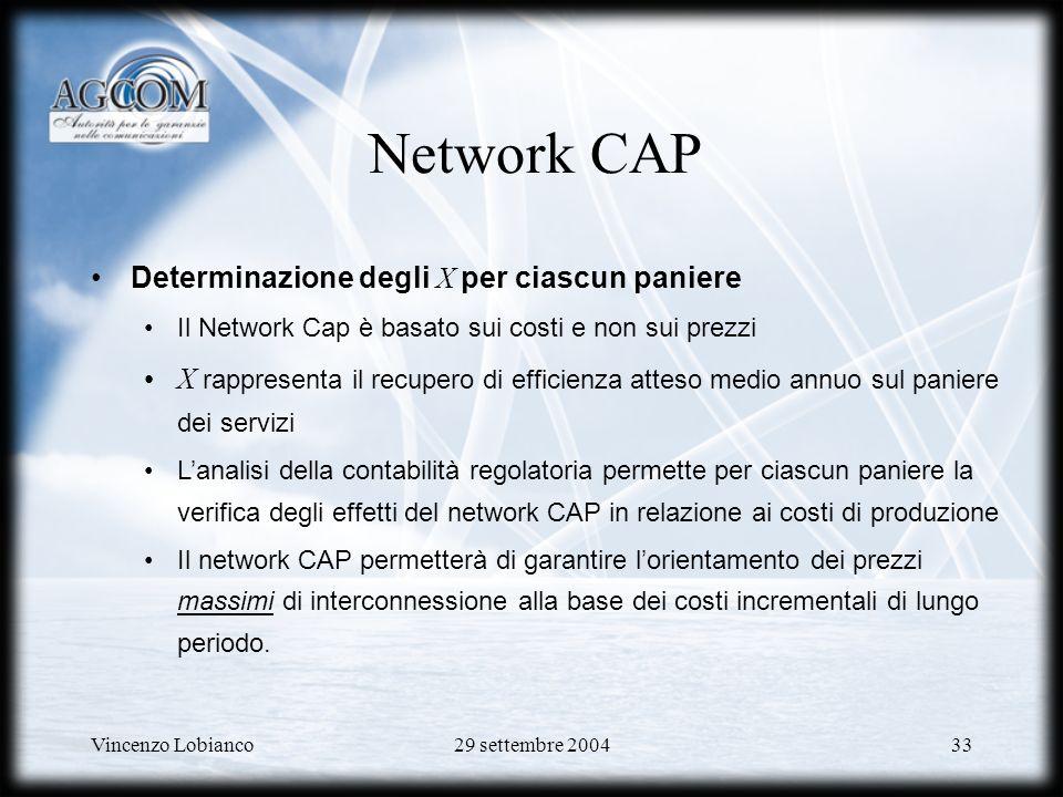 Network CAP Determinazione degli X per ciascun paniere