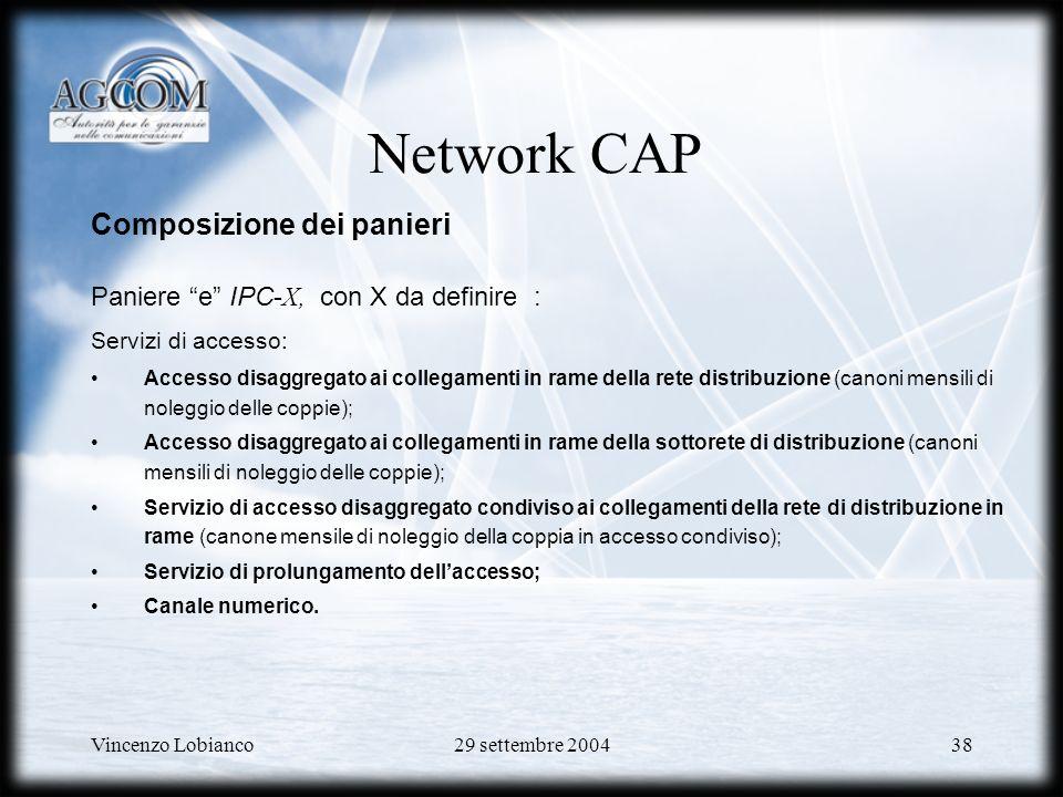 Network CAP Composizione dei panieri