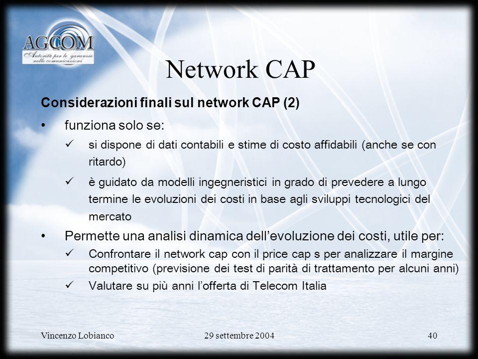 Network CAP Considerazioni finali sul network CAP (2)