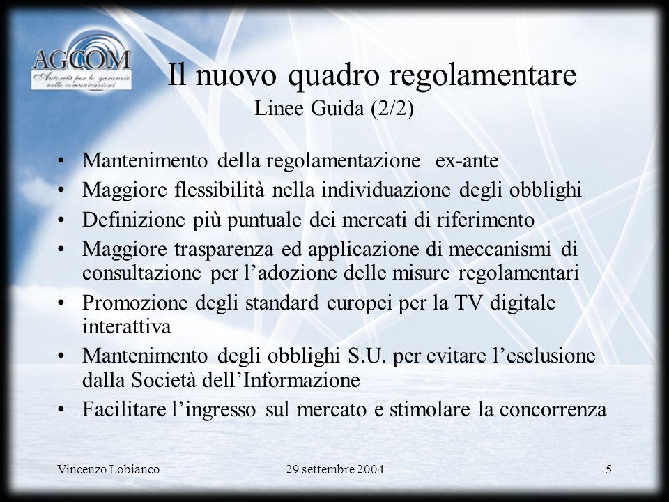 Il nuovo quadro regolamentare Linee Guida (2/2)