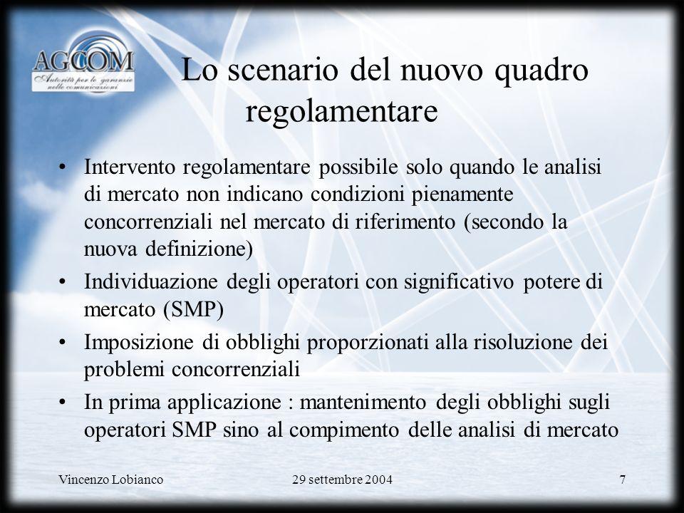 Lo scenario del nuovo quadro regolamentare