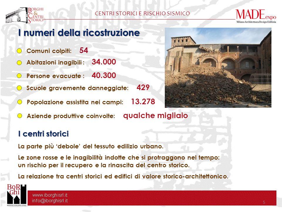 CENTRI STORICI E RISCHIO SISMICO