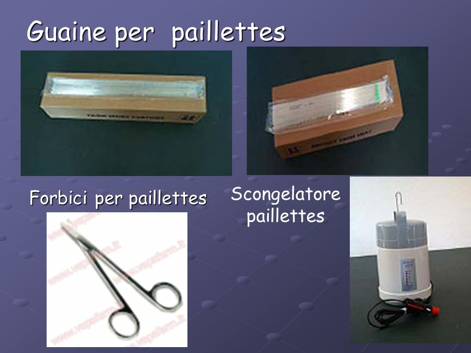 Scongelatore paillettes