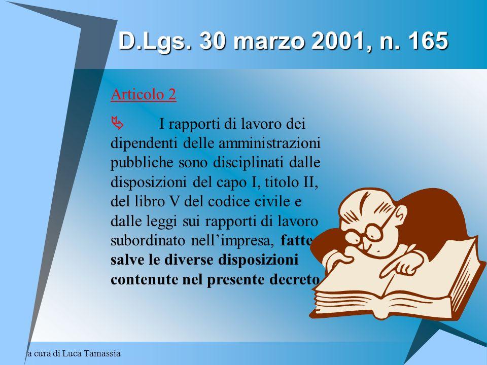 D.Lgs. 30 marzo 2001, n. 165 Articolo 2.