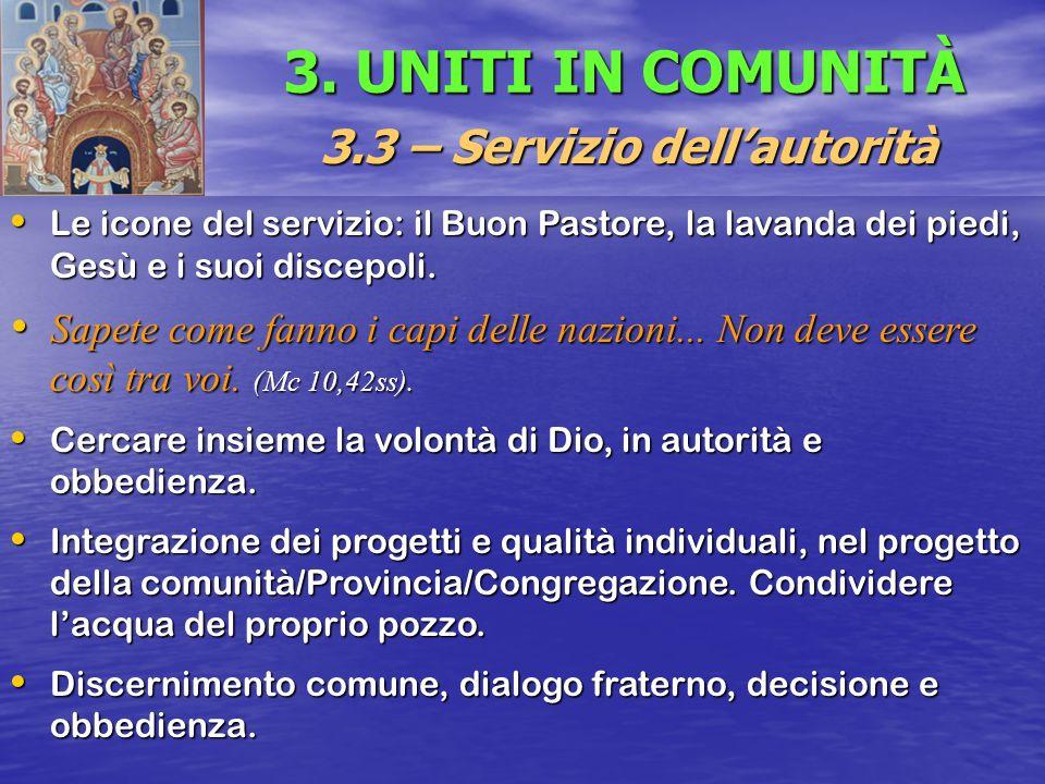 3.3 – Servizio dell'autorità
