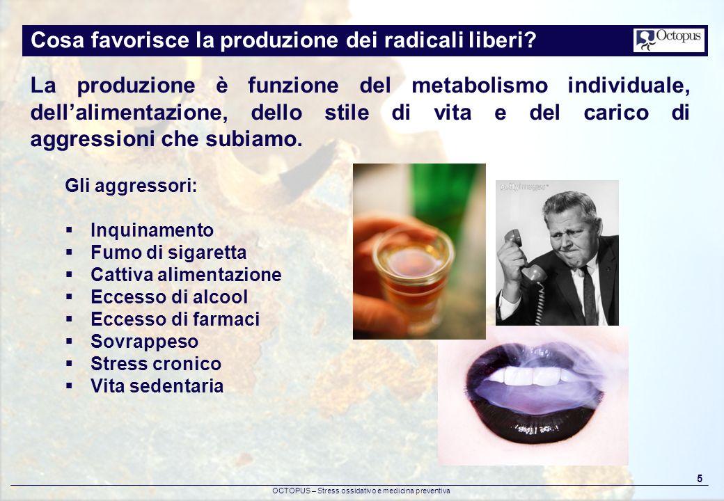 Cosa favorisce la produzione dei radicali liberi