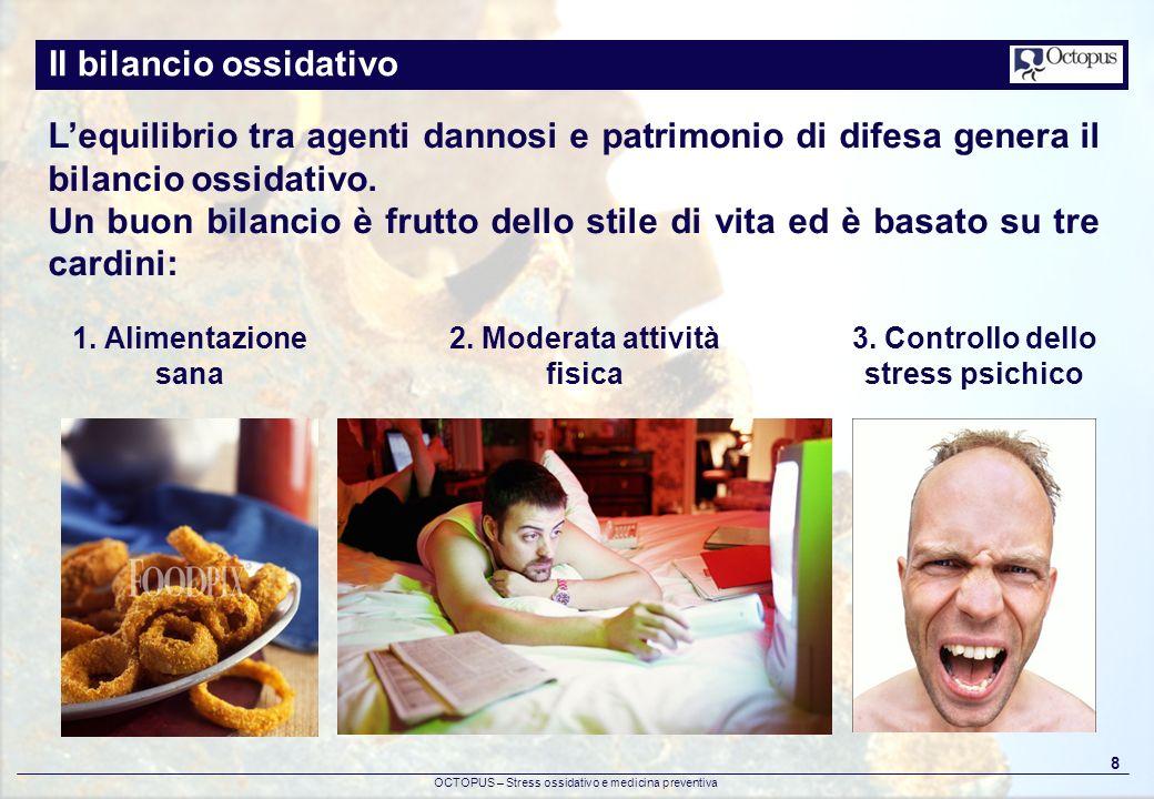 2. Moderata attività fisica 3. Controllo dello stress psichico
