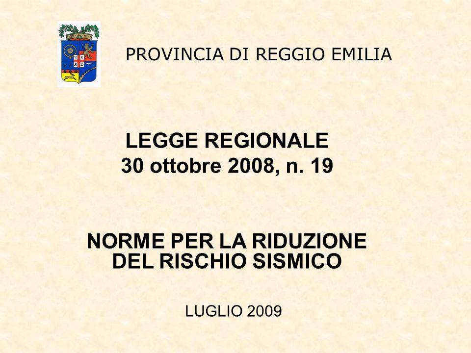 NORME PER LA RIDUZIONE DEL RISCHIO SISMICO