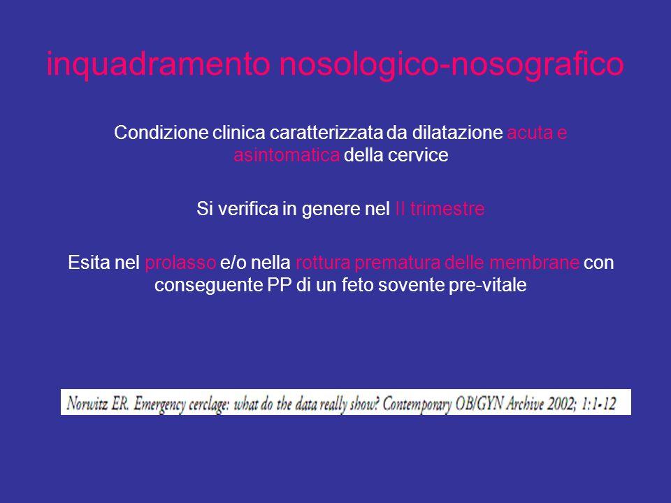 inquadramento nosologico-nosografico
