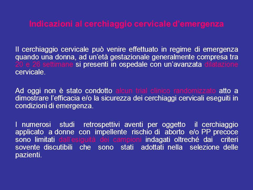 Indicazioni al cerchiaggio cervicale d'emergenza