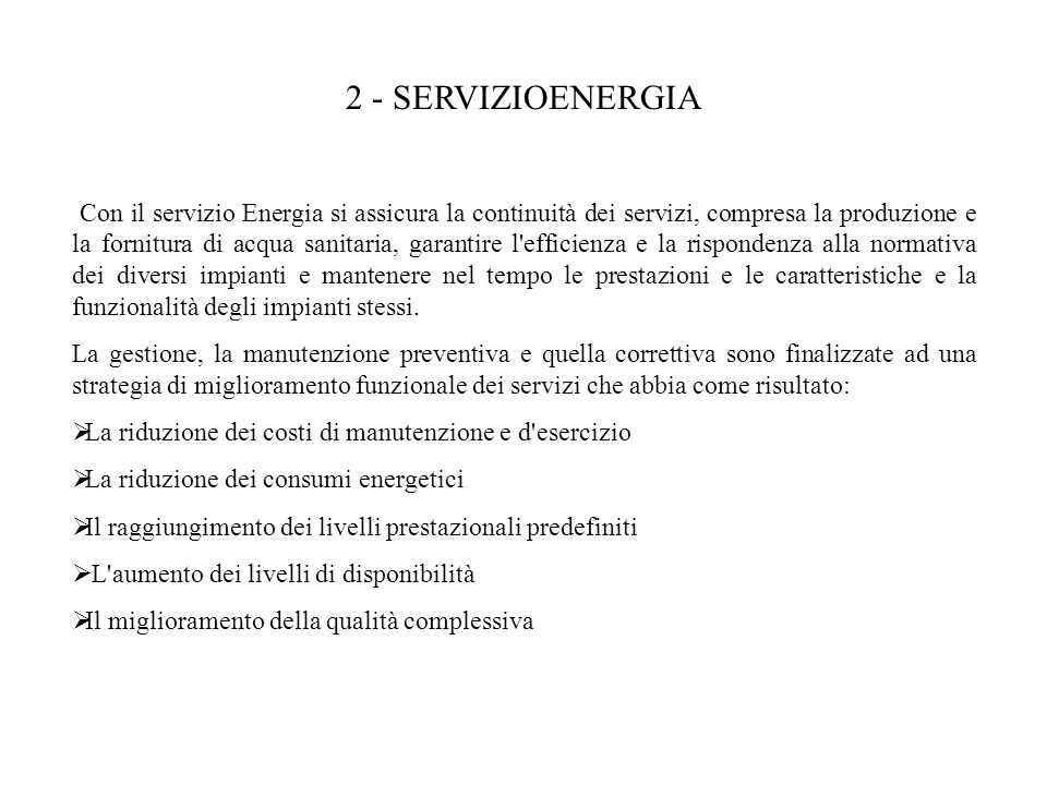 2 ‑ SERVIZIOENERGIA