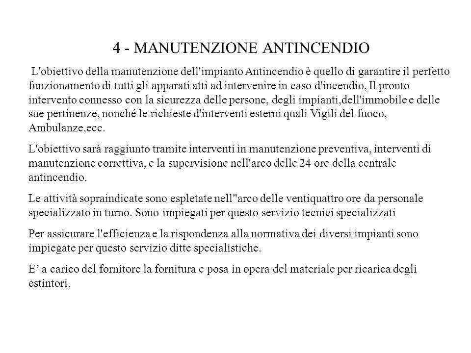 4 ‑ MANUTENZIONE ANTINCENDIO