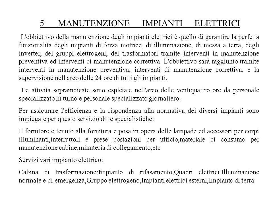 5 MANUTENZIONE IMPIANTI ELETTRICI