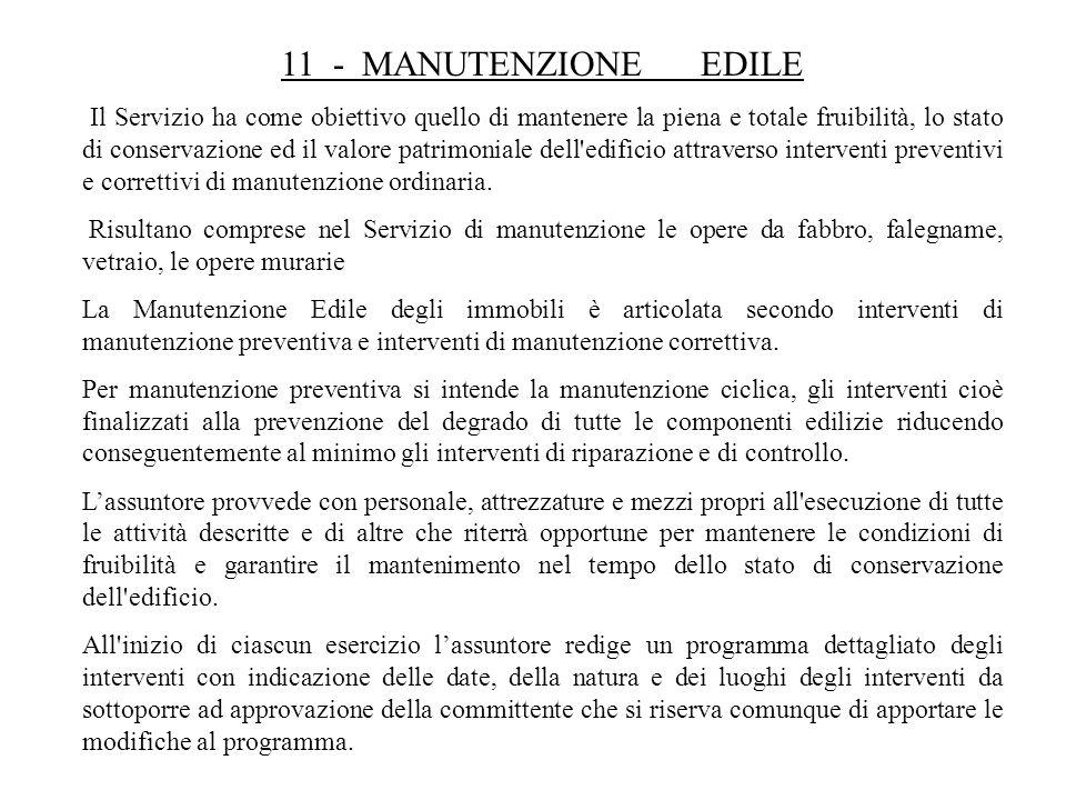 11 - MANUTENZIONE EDILE