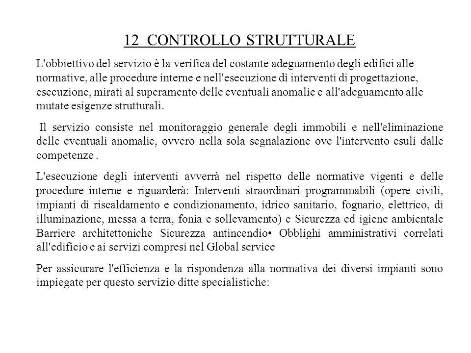 12 CONTROLLO STRUTTURALE