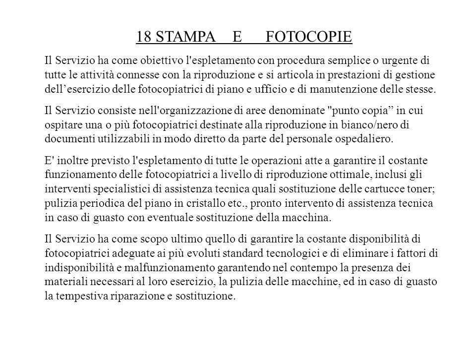 18 STAMPA E FOTOCOPIE