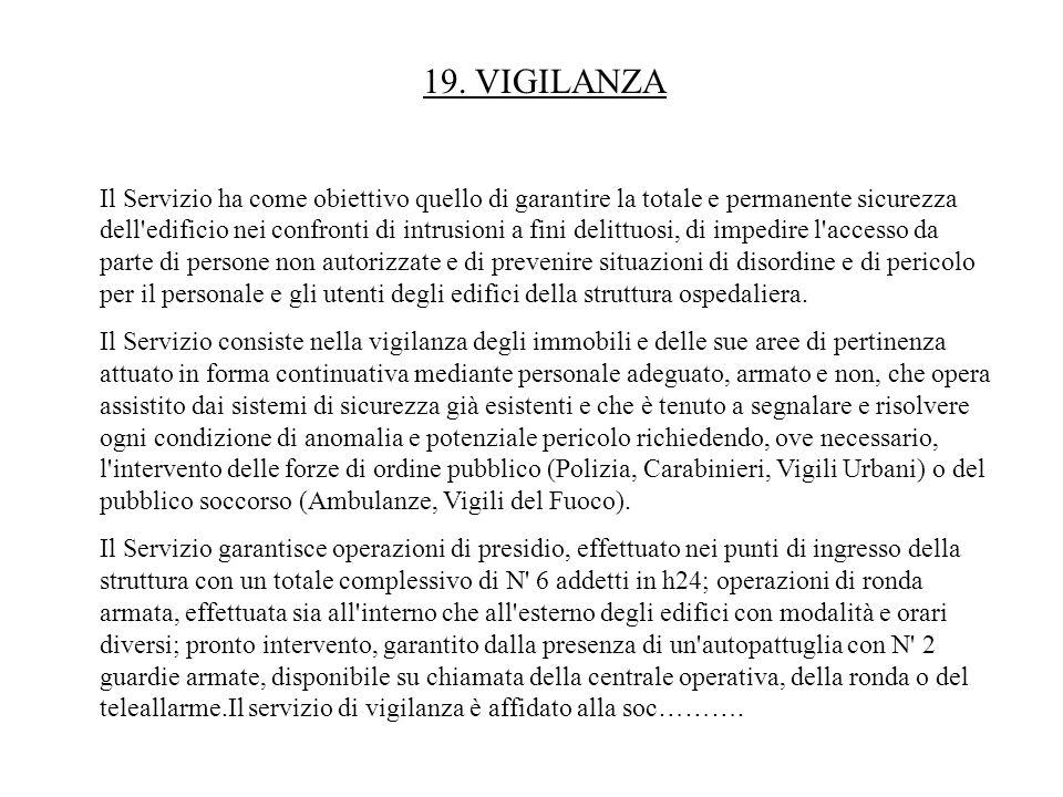 19. VIGILANZA