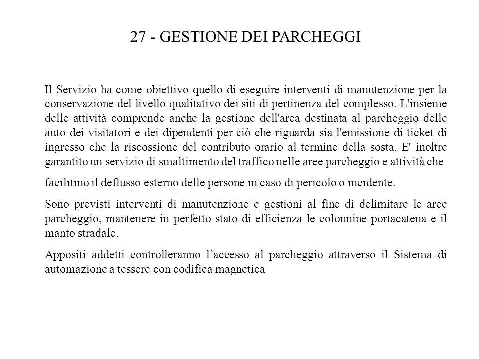 27 - GESTIONE DEI PARCHEGGI