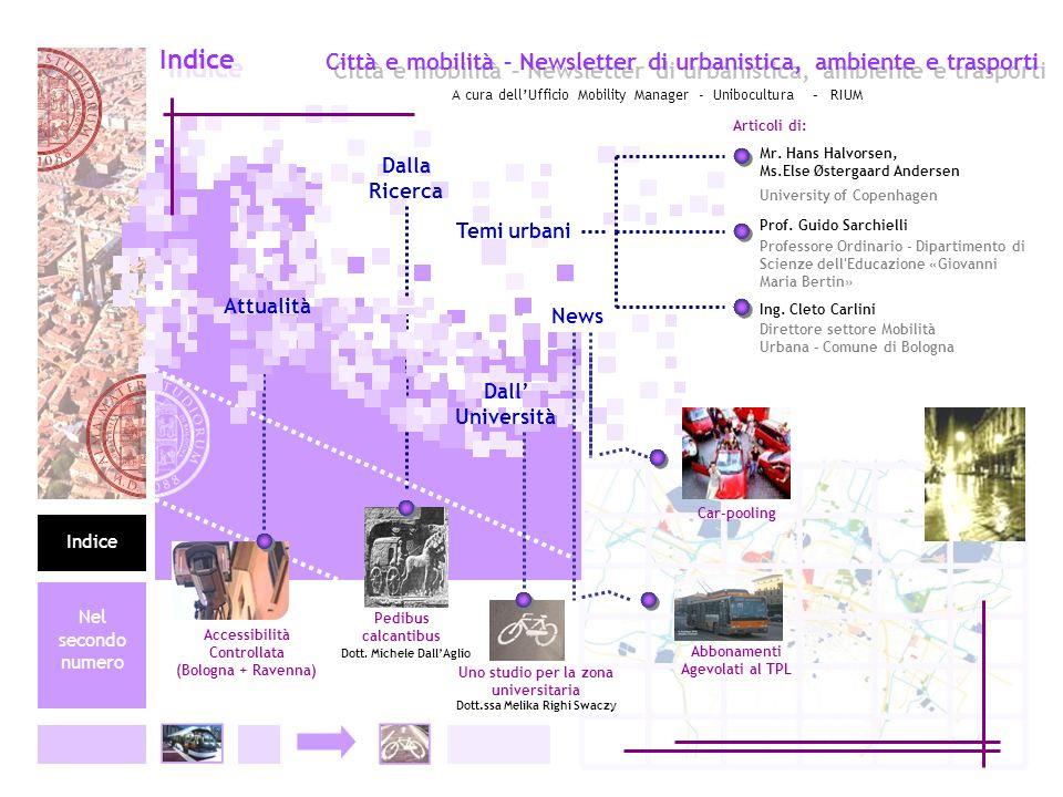 Indice Indice. Città e mobilità – Newsletter di urbanistica, ambiente e trasporti.