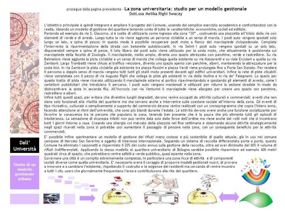Dott.ssa Melika Righi Swaczy Studio di un modello gestionale