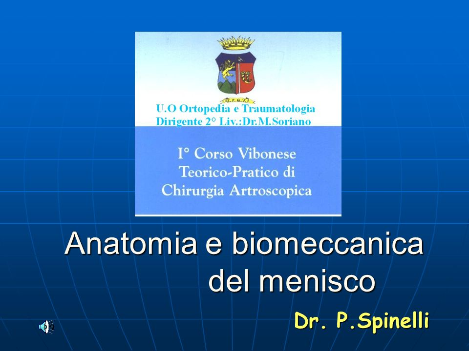 Anatomia e biomeccanica del menisco