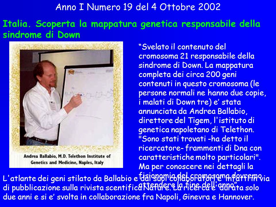 Anno I Numero 19 del 4 Ottobre 2002