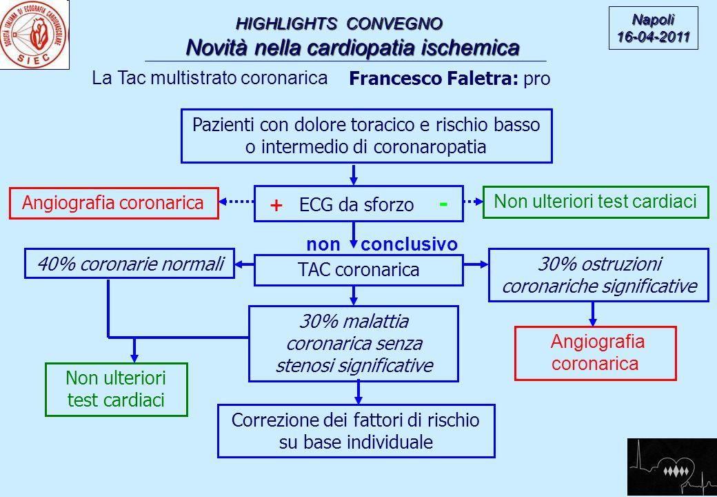 non conclusivo La Tac multistrato coronarica Francesco Faletra: pro
