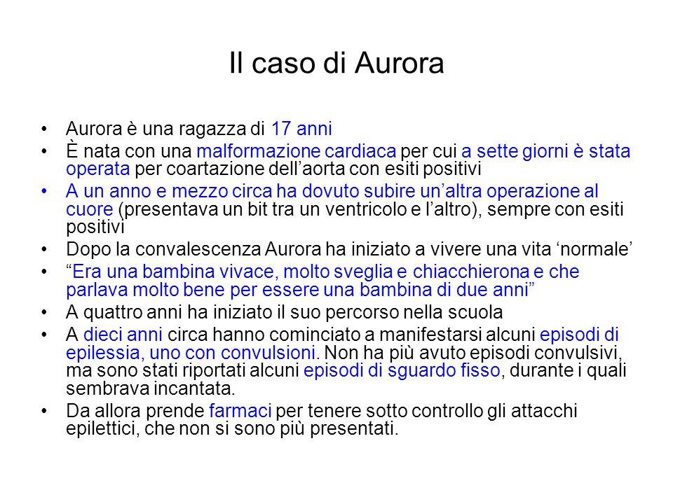 Il caso di Aurora Aurora è una ragazza di 17 anni