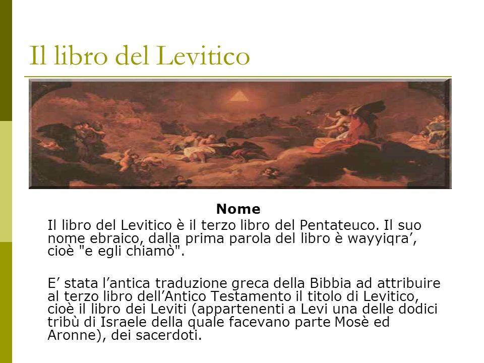 Il libro del Levitico Nome