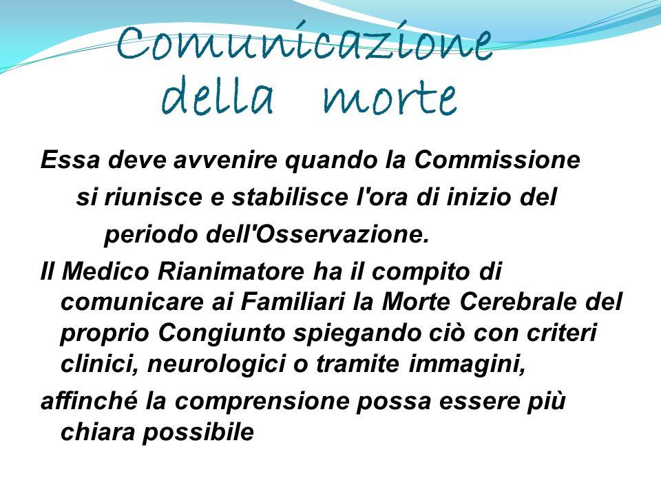 Comunicazione della morte
