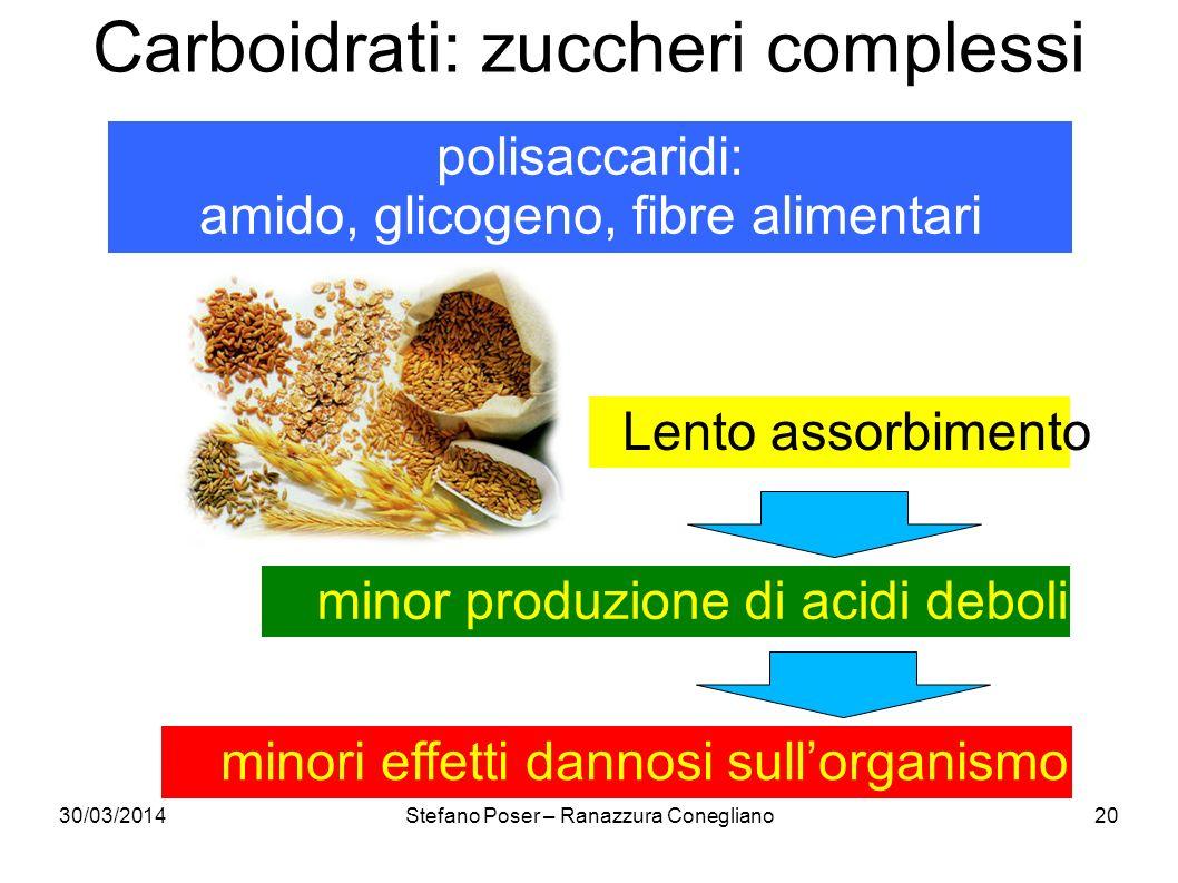Carboidrati: zuccheri complessi