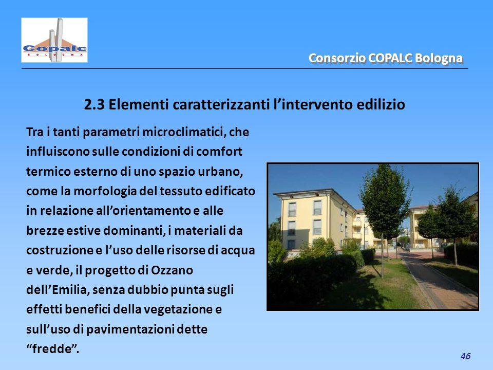 2.3 Elementi caratterizzanti l'intervento edilizio
