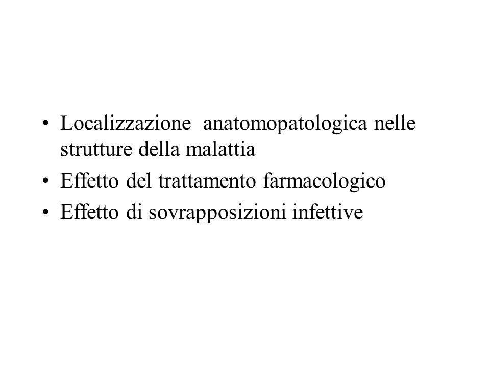 Localizzazione anatomopatologica nelle strutture della malattia