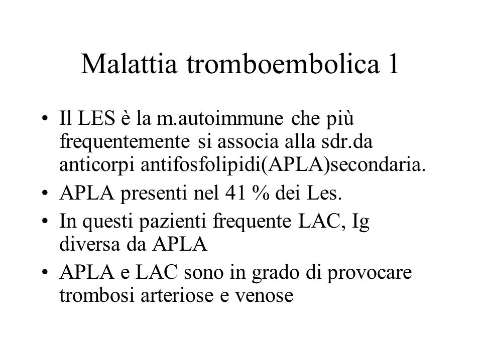 Malattia tromboembolica 1