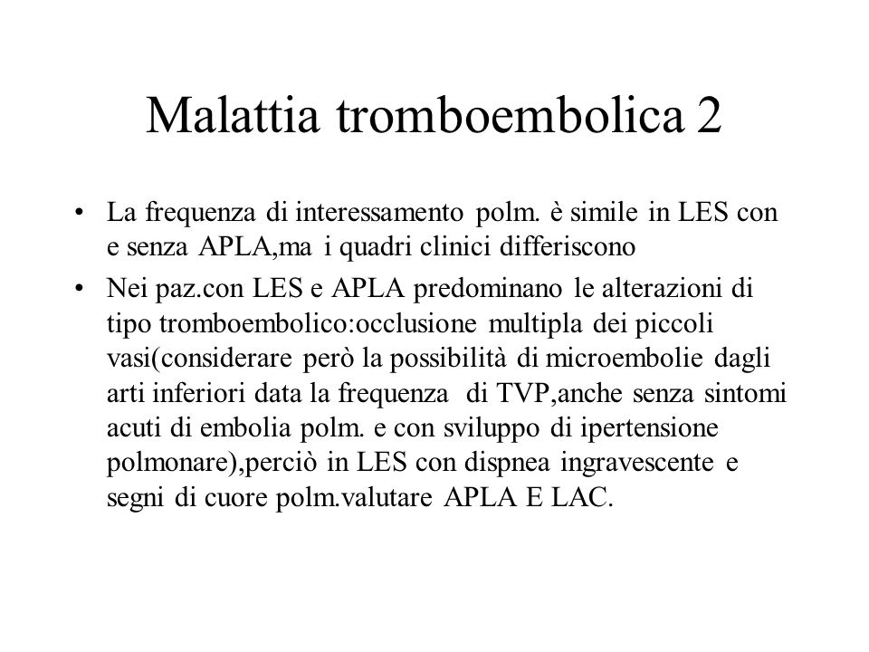 Malattia tromboembolica 2