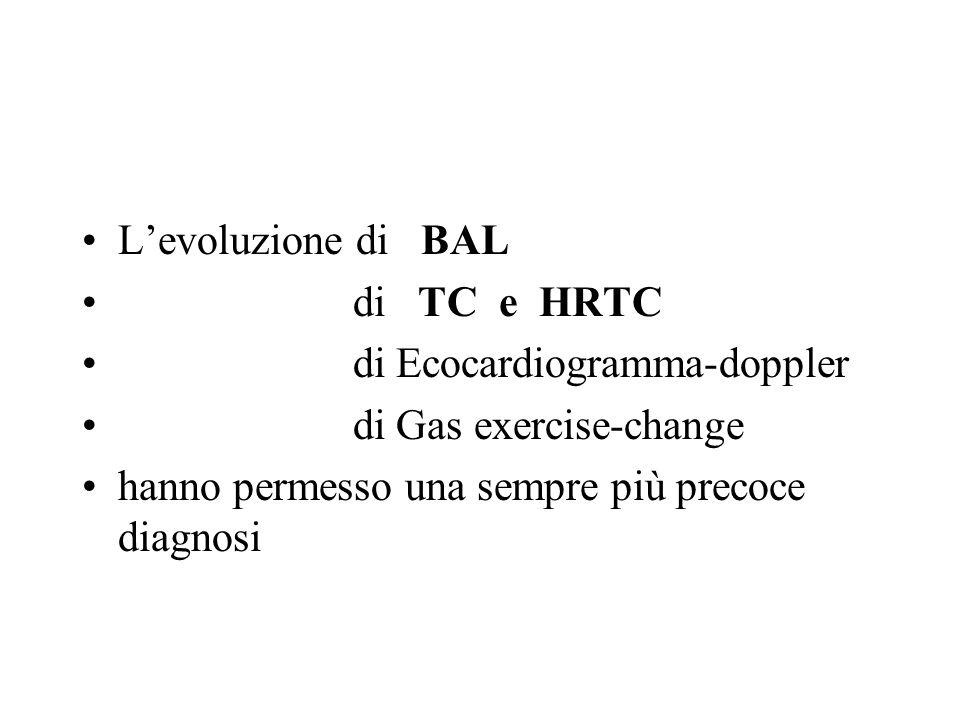 L'evoluzione di BAL di TC e HRTC. di Ecocardiogramma-doppler.