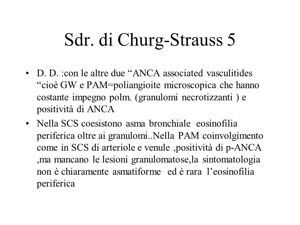 Sdr. di Churg-Strauss 5