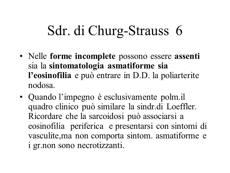 Sdr. di Churg-Strauss 6