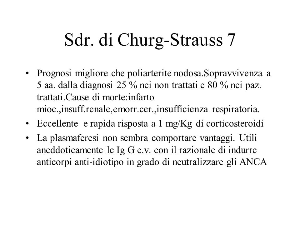 Sdr. di Churg-Strauss 7