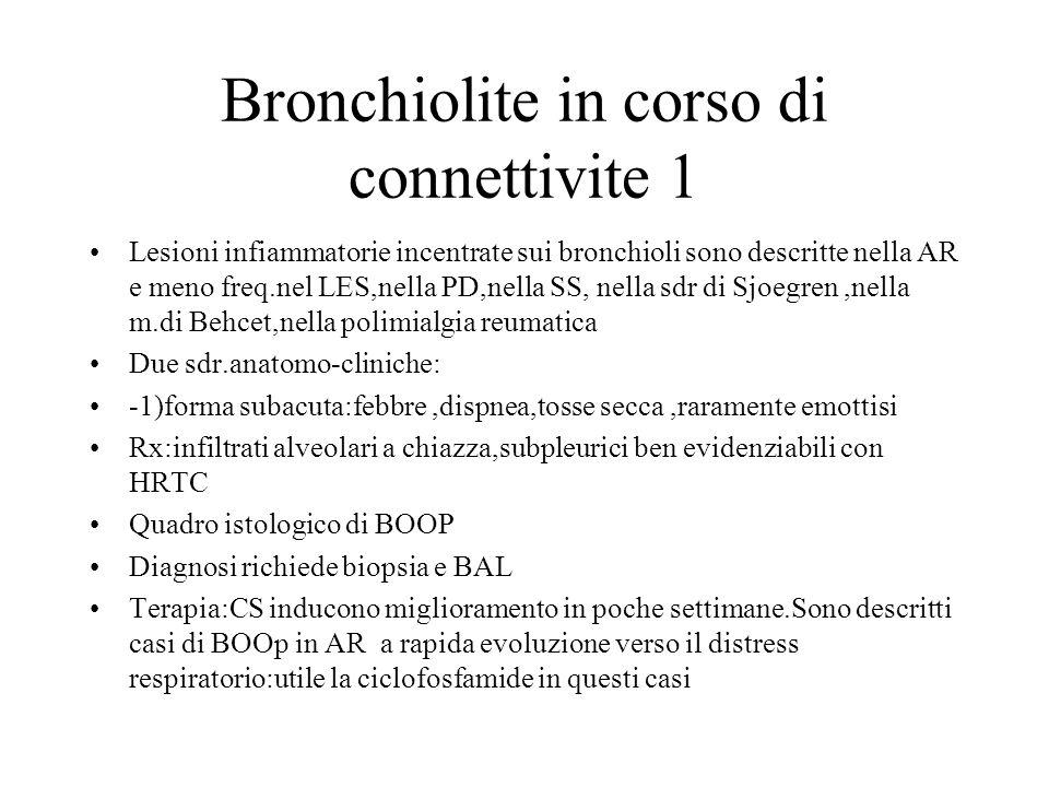 Bronchiolite in corso di connettivite 1