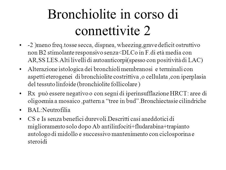 Bronchiolite in corso di connettivite 2