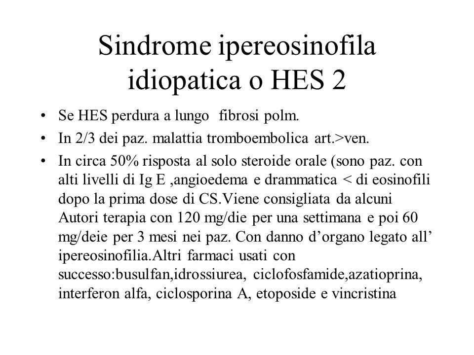 Sindrome ipereosinofila idiopatica o HES 2