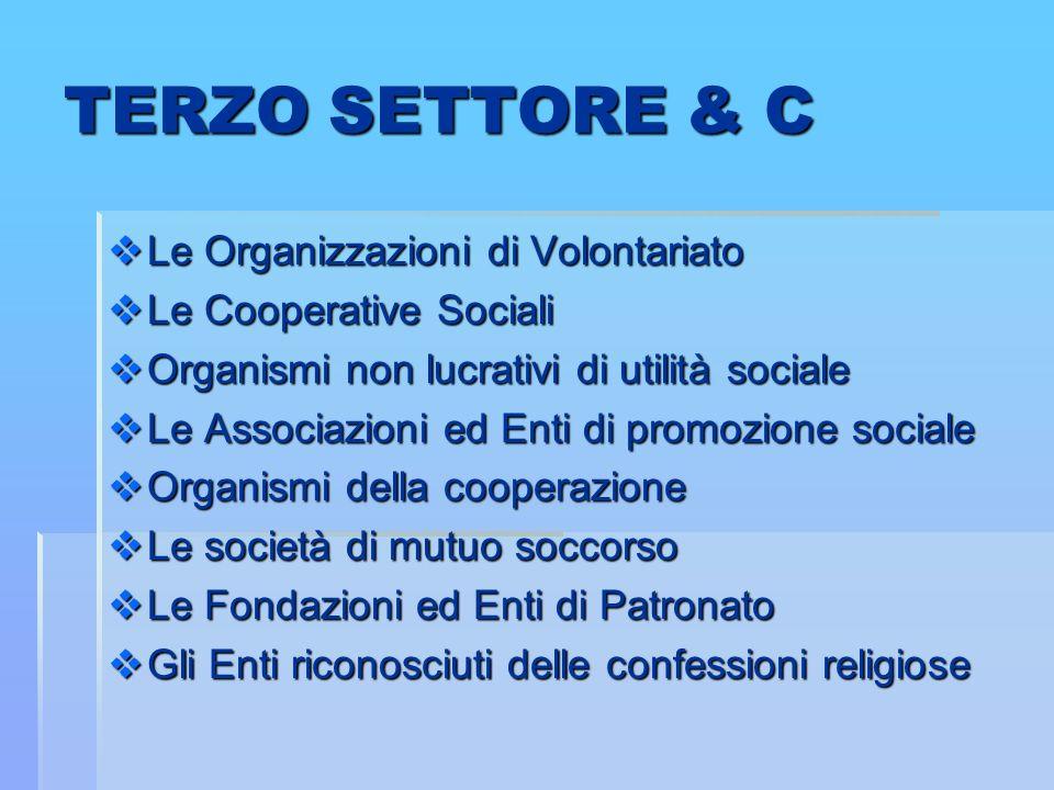 TERZO SETTORE & C Le Organizzazioni di Volontariato