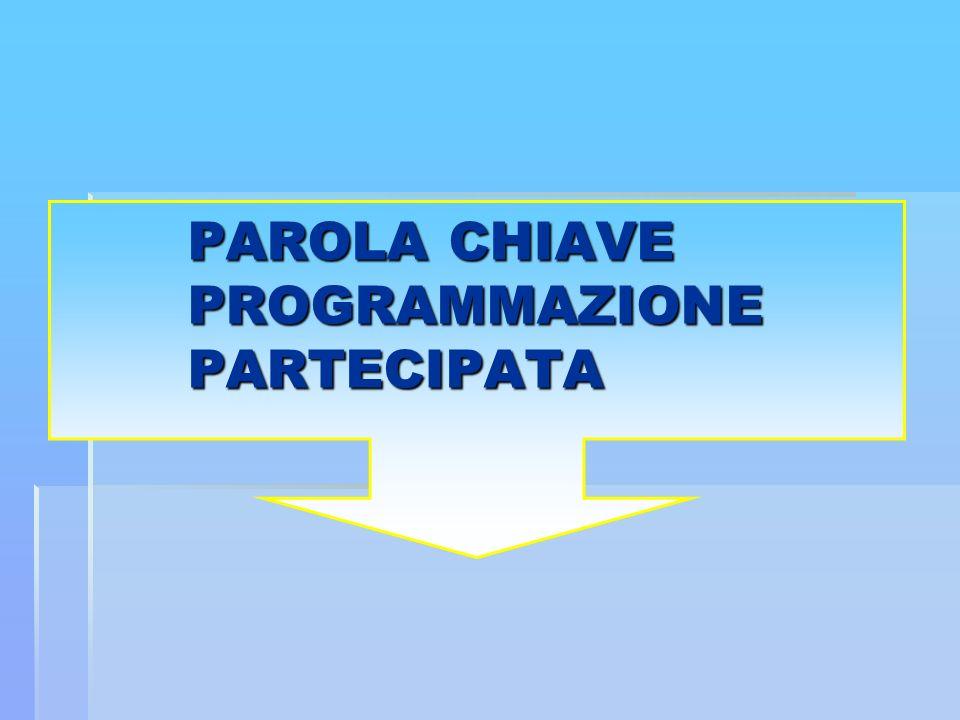 PAROLA CHIAVE PROGRAMMAZIONE PARTECIPATA