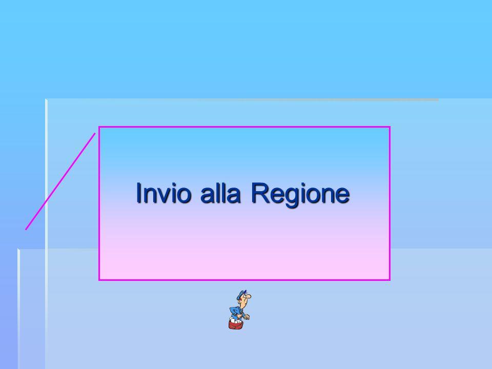 Invio alla Regione