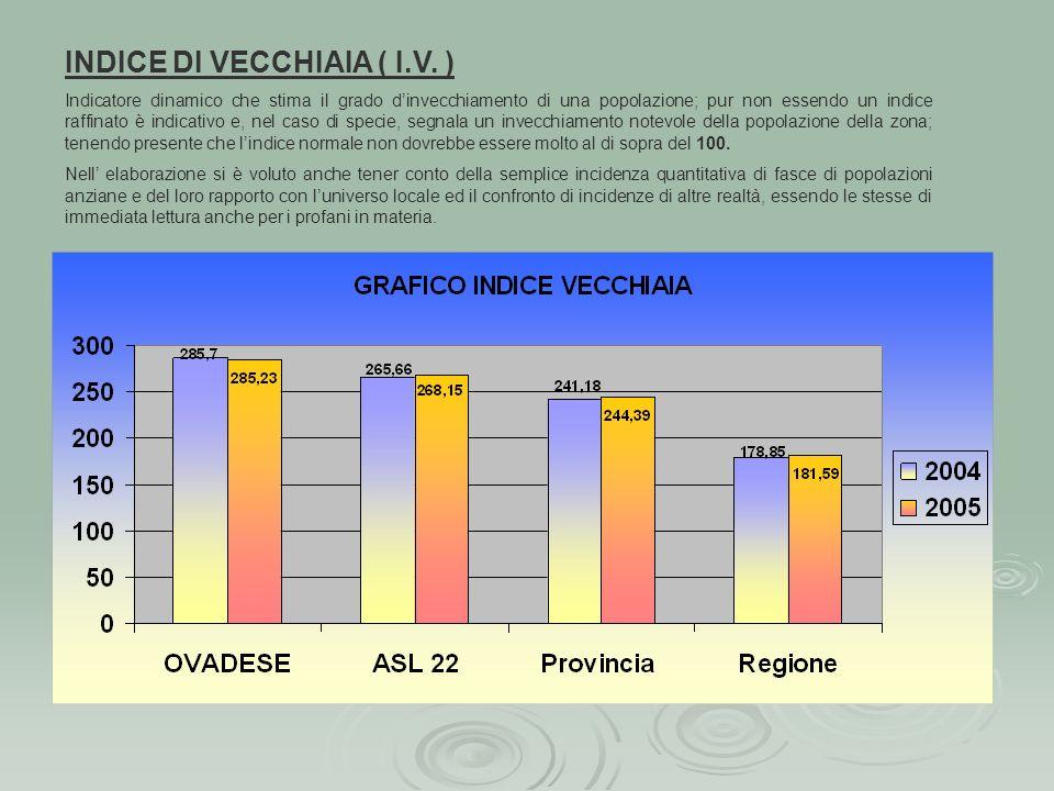INDICE DI VECCHIAIA ( I.V. )