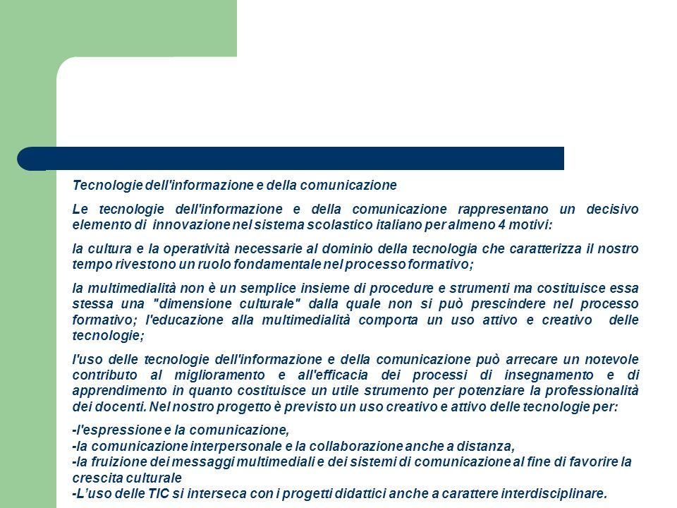 Tecnologie dell informazione e della comunicazione